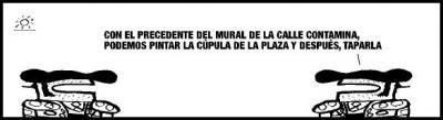 El Ayuntamiento de Zaragoza tapa un mural callejero