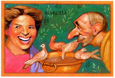 Marcial volvió a Bílbilis y conoció a Marcela