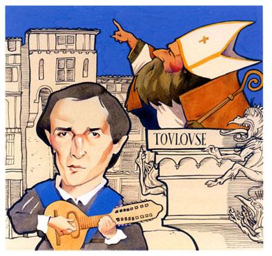 Servet estudia teología en Toulouse