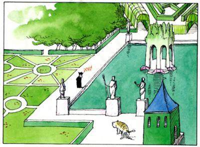 Gracián visitaba el jardín de Lastanosa