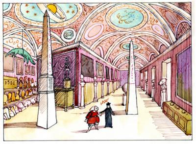 Gracián visitaba el palacio de Lastanosa