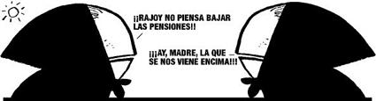 Rajoy no piensa bajar las pensiones