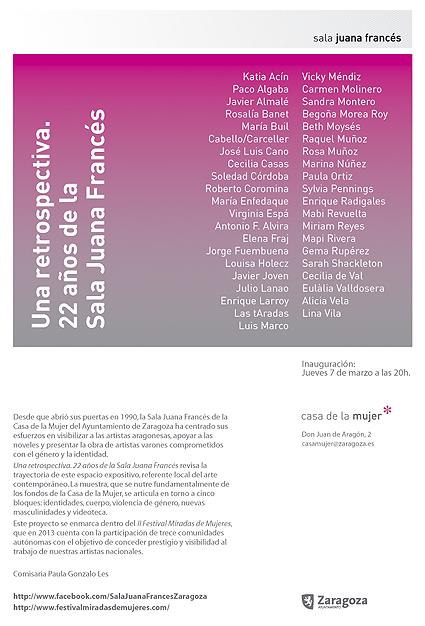 22 años de exposiciones en la Casa de la Mujer