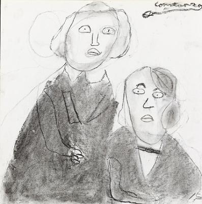 Retrato de los hermanos Grimm, pintado por Blancanieves